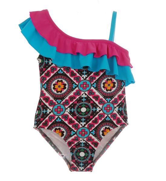 Asymmetrical Ruffle Swimsuit