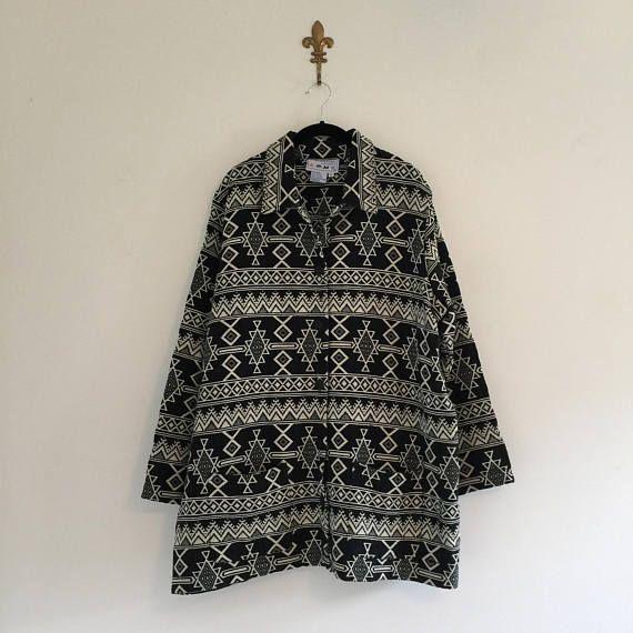 Vintage Southwestern Tapestry Barn Jacket XL XXL
