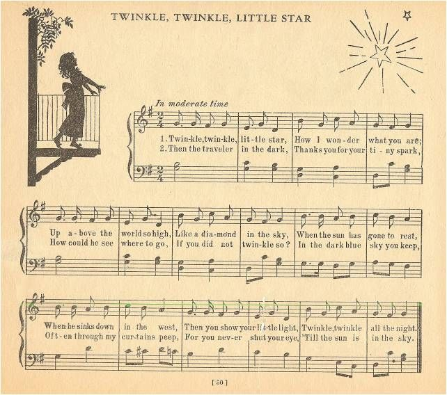 Twinkle Twinkle Little Star Free Sheet Music For Piano: 33 Best Images About Lyric Music And Chords On Pinterest
