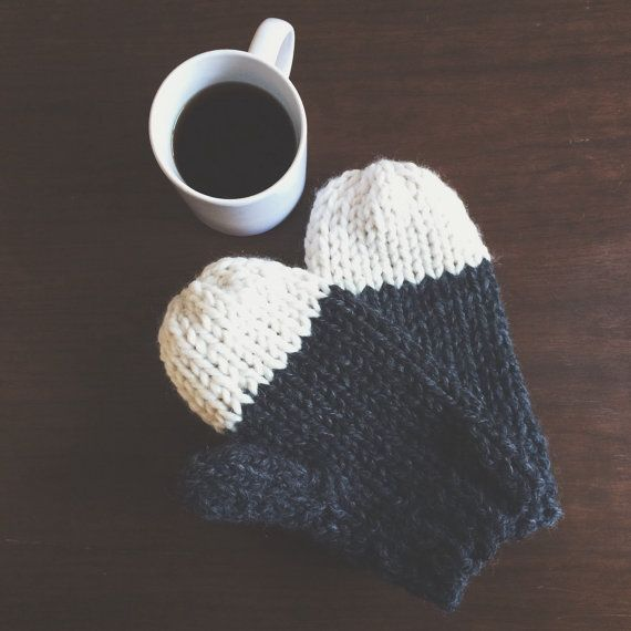 Knit Mittens  Chunky Knit Mittens by ssneverythingnice on Etsy