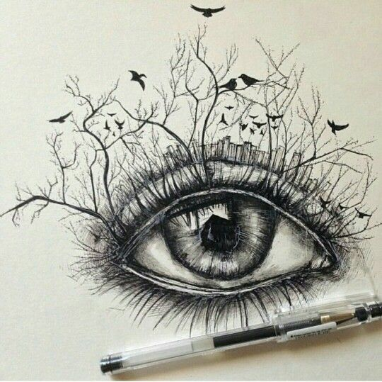Fantasie-Auge