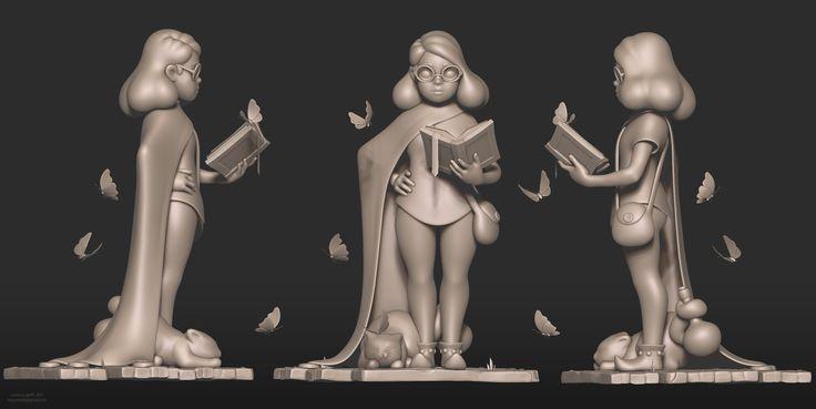 "My fan-art of a sorceress from ""Moonlighter"" game by DigitalSun Games here is the original concept art: https://www.kickstarter.com/projects/digitalsun/moonlighter/description Turntable: http://globalgallery.ru/Project/View/6225f654-6b9f-e611-80c1-0015292d9c5e"