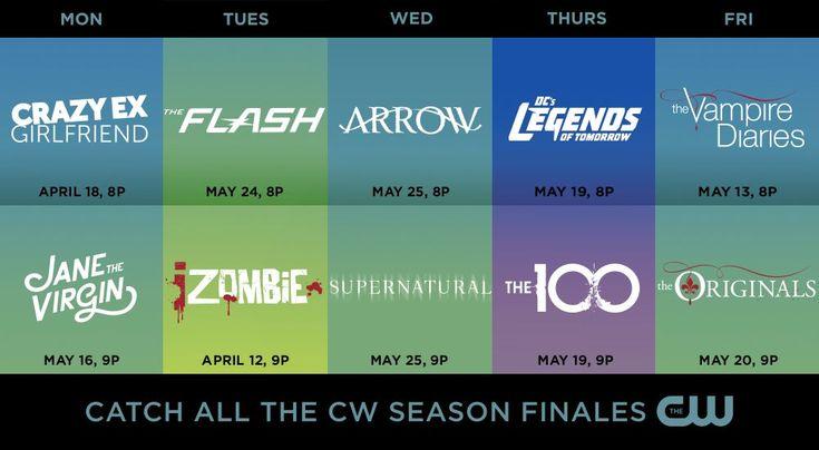 The CW Reveals Season Finale Dates