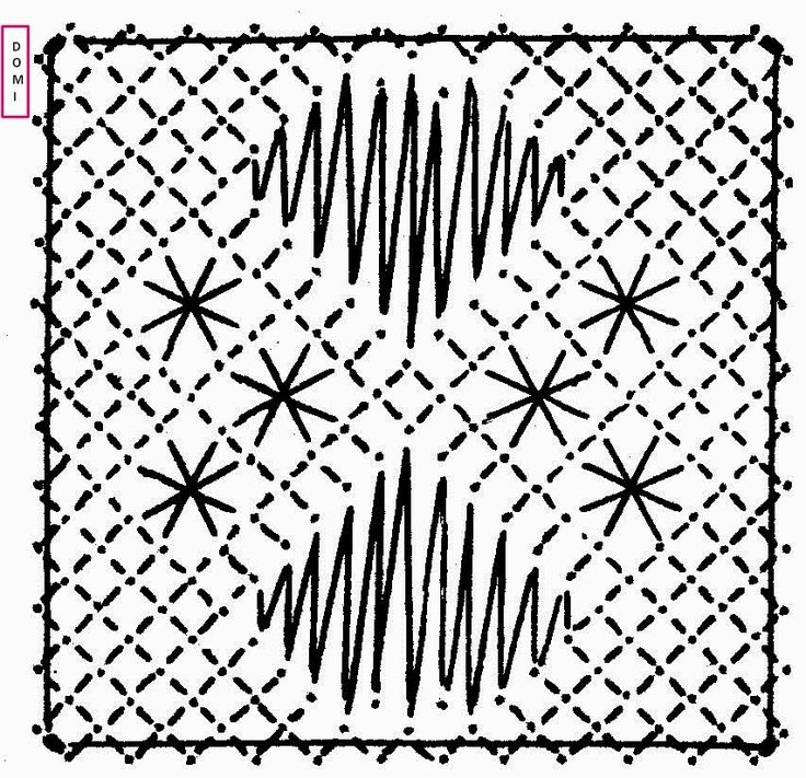 Plus que quelques carrés et le damier sera complet.   Voici le carré n° 25 proposé par Dominique, toujours sur un fond torchon, des araignée...