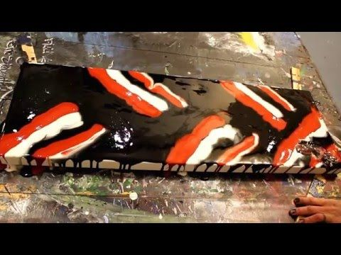Oxide - Fluid Acrylic Painting - Abstract Art by Eric Siebenthal - YouTube