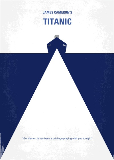 simple shapes and a simple concept like it My Titanic Movie Poster