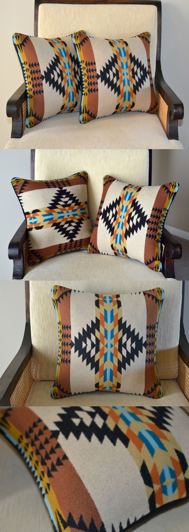 Pillows 20563: Pillow Covers Shams Southwestern Home Decor Handcrafted Of Pendleton Wool Fabric -> BUY IT NOW ONLY: $88 on eBay!