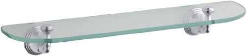 KOHLER K-10563-CP Devonshire Glass Shelf, Polished Chrome… $63.11   – Townhous…  – most beautiful shelves