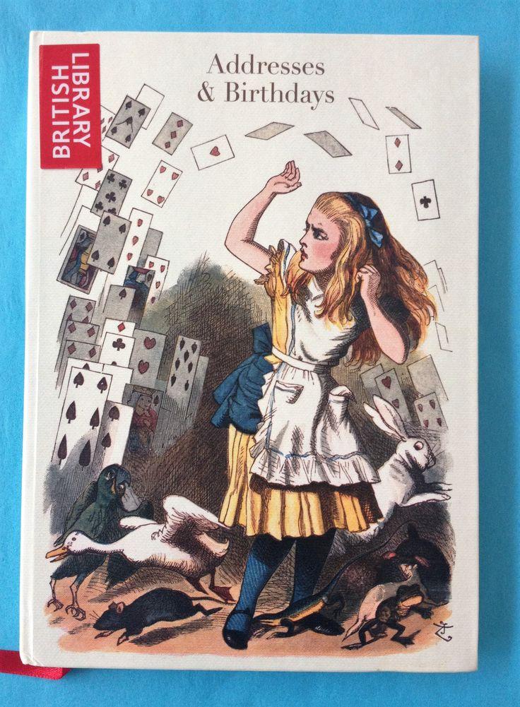 Alice in Wonderland address book featuring Sir John Tenniel's original 1865 illustration.