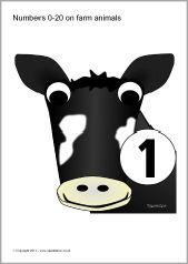 Posters met boerderijdieren 1-10