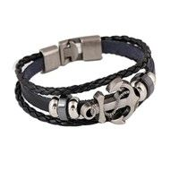 Adjustable rope, fit for most girls and boys  Material: Faux Leather + Hemp rope Length: Approx. 21c