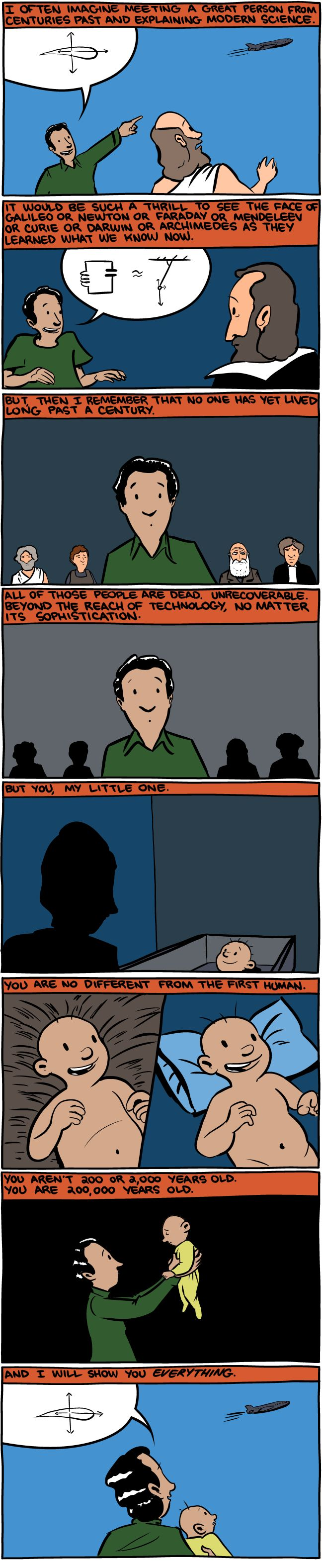 Normally SMBC has a cutting tone, but this?  Beautifully hopeful.  From Saturday Morning Breakfast Cereal