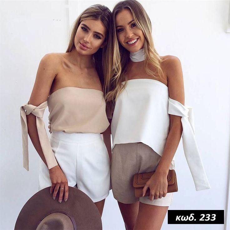 Κωδικός AD233, Υλικό Συνθετικό, Cotton Blend Material, Χρώμα Λευκό, White Color, Strapless, Sleeveless, Διακοσμήτικη Κορδέλα Λαιμού, Άλφα Γραμμή, Airy Top, One Size