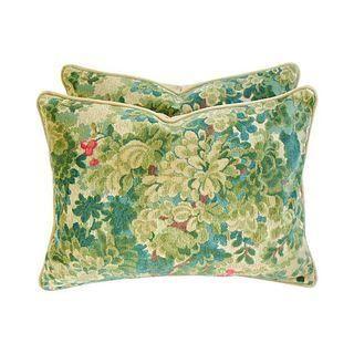 Scalamandre Velvet & Mohair Pillows - A Pair #Chairish