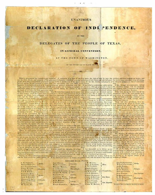Declaration of independence date in Brisbane