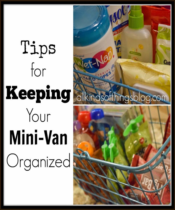 Tips for Keeping Your Mini-Van Organized from All Kinds of Things