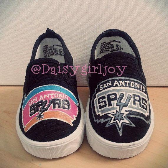Custom hand painted San Antonio Spurs NBA Sports by DaisyGirlJoy, $50.00