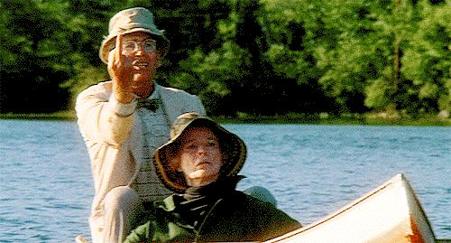 """Fonda and Hepburn give it what for - On Golden Pond - """"buzz off"""""""