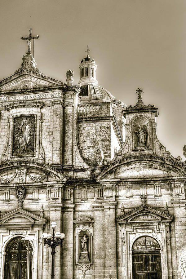 Facade Of Baroque Church, Rabat, Malta by Jacek Wojnarowski