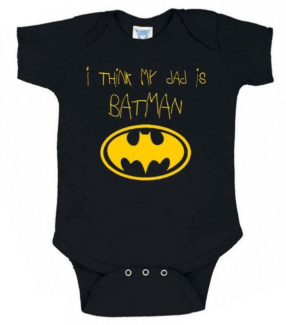 I Think My Dad is Batman Onesie by TeesToPlease, $13.99