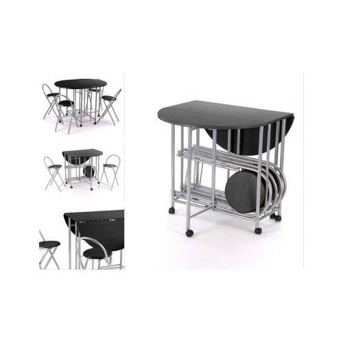Folding-Dining-Table-Small-Kitchen-Stools-Chairs-Modern-Drop-Leaf-Extending-5PC