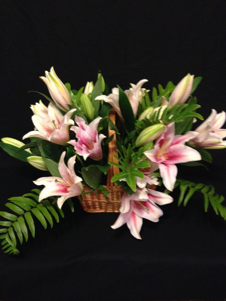 If you LOVE Lily's than this one is for you.   Basket of beautiful fragrant Lily's $60