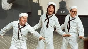 Start of Series 7, with Cliff Richard. One of their most memorable routines based on 'The Fleet's In Town', ending with Eric stepping off the ship!