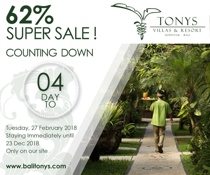 Super Sale! We are coming for bringing the best deal of accommodation price.  Check this out and prepare yourself to take holiday. . . #Bali #Seminyak #deals #bestdeals #hotelsdeals #hotelpromo #supersale #sale #holiday #promotion #staydifferent #hotdeals #honeymoon #tonysvilla #balimagic  www.balitonys.com