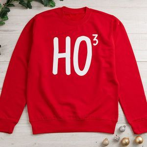 Ho To The Power Of Three Mens Christmas Jumper. Shop Christmas Jumpers now.