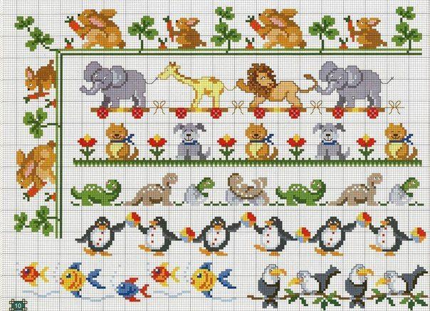 Materiales gráficos Gaby: 9 Plantillas de bordados con diseños varios