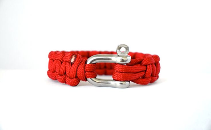 Imperial Red // Paracord Survival Bracelet | A bright and rich colour and serves as a high visible accent choice. This represents passion, ambition and determination. Red exudes a powerful energy that motivates ourselves and others to take action. Many insignias have a splash of bright colour and this could both balance and and match it. Canadian Coast Guard vessels paint their hulls red, with a white superstructure, to simulate a floating Canadian Flag.  #Paracord #FunctioningWithStyle
