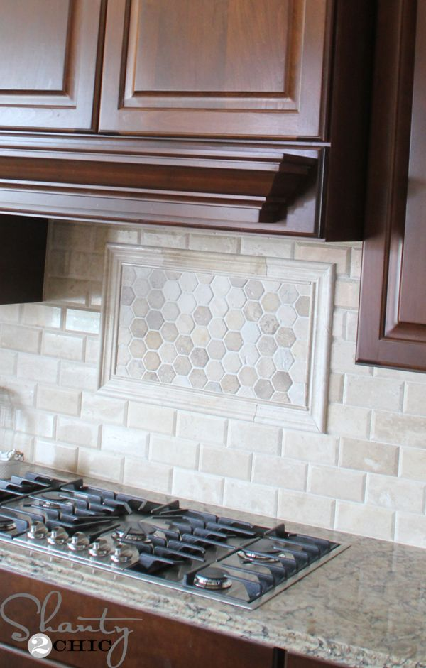 Love the tile in this kitchen!!