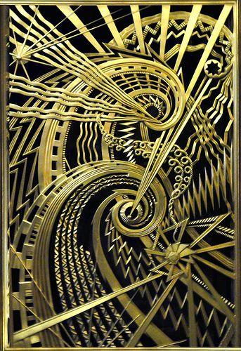 Interior Art Deco metalwork detail at Chanin Building, New York, USA. Photo by Suellen, 2011-04-08 | #ArtDeco