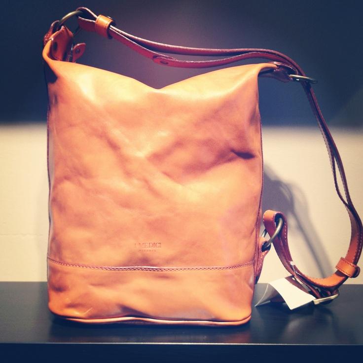 I Medici messenger/handbag, designed in inspiration by an image of a 15th century Medici messenger!