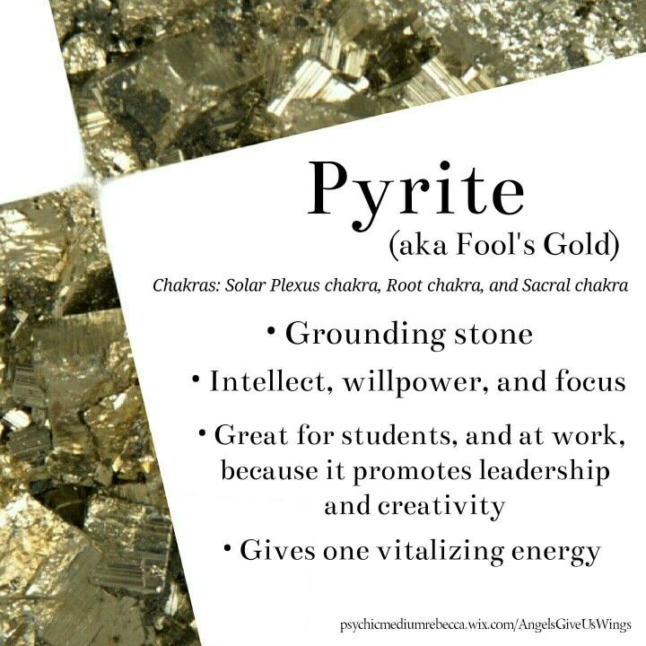 Pyrite crystal meaning