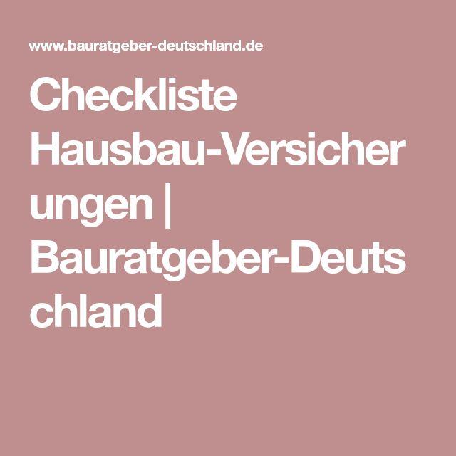 Checkliste Hausbau-Versicherungen | Bauratgeber-Deutschland