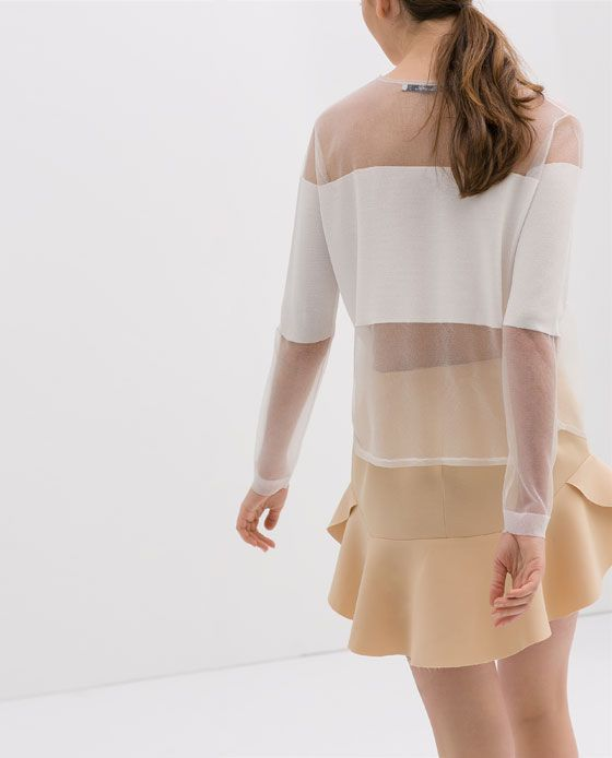 Zara Blouse With Transparent Details 121