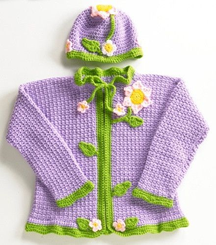 Maggie's Crochet · Flower Sweater and Hat Crochet Pattern