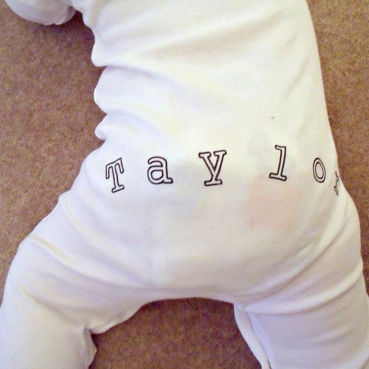 Funky PERSONALISED on FRONT AND BACK sleepsuit www.millymollymorley.co.uk