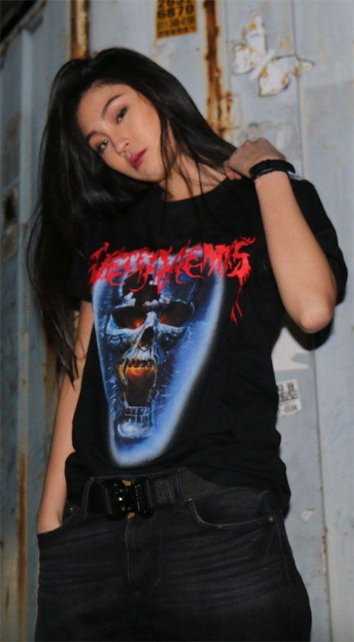 베트멍의 대표 시그네쳐 티셔츠 패러디한 베트밈스 티셔츠. Model 170cm / 45kg / M size