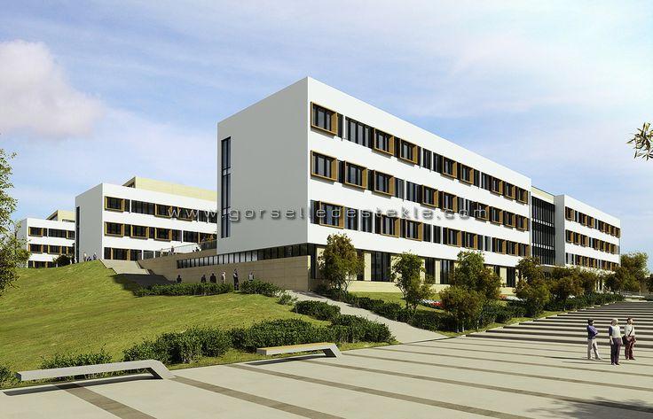 Bakü - Qafqas Üniversitesi Projesi, Görselleştirme Çalışması. Proje Müellifi: Zambak Mimarlık