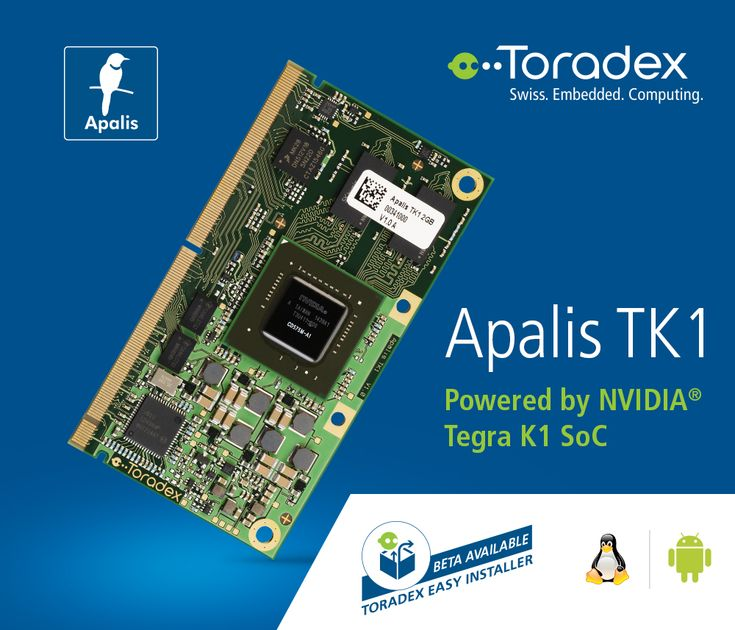 Explore our powerful #NVIDIA® Tegra K1 based SoM, Apalis TK1. This offers a NVIDIA® #GeForce® #Kepler™  Mobile #GPU, full #CUDA® support and supreme performance, along with support for advanced I/O's. The module supports Beta version of the Toradex Easy Installer.