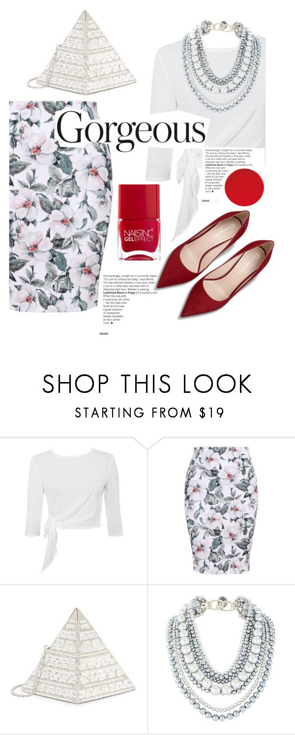 """Untitled #875"" by capm ❤ liked on Polyvore featuring Judith Leiber and Nails Inc."