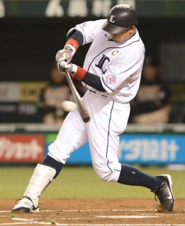 Takumi Kuriyama lined a shot into the gap in left-center field for a double off Masaru Takeda and collected an RBI - Saitama Seibu Lions' 1st RBI in 2013 campaign - to open scoring in the 1st inning at Seibu Dome on Friday, March 29, 2013.