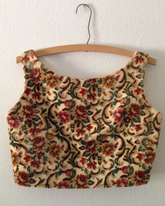 vintage tapestry top. Would make a nice choli.