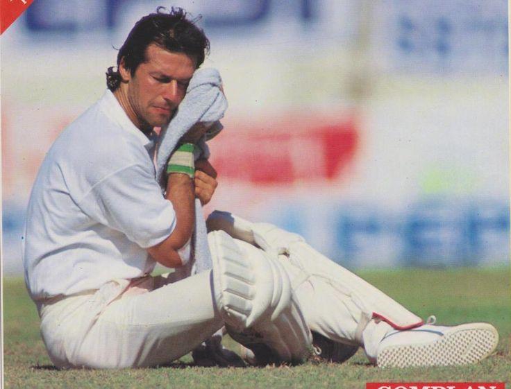 Imran khan during a test Match