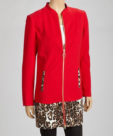 Take a look at this Red Leopard Jacket by Find Your Style: Into the Wild on @zulily today!