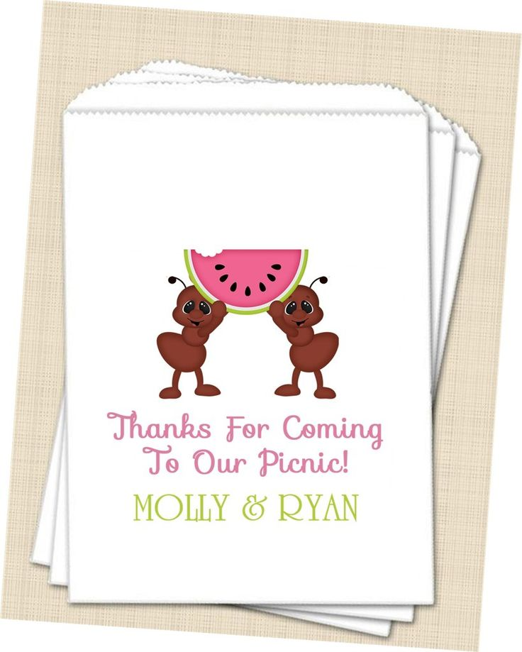 Wedding Picnic Favor Bags