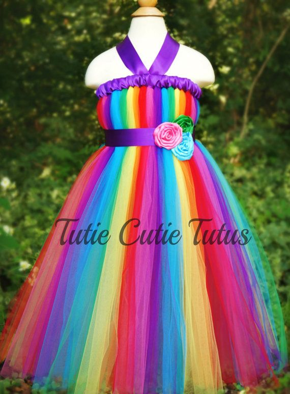 Rainbow Dash Inspired Tutu Dress by TutieCutieTutus on Etsy, $40.00