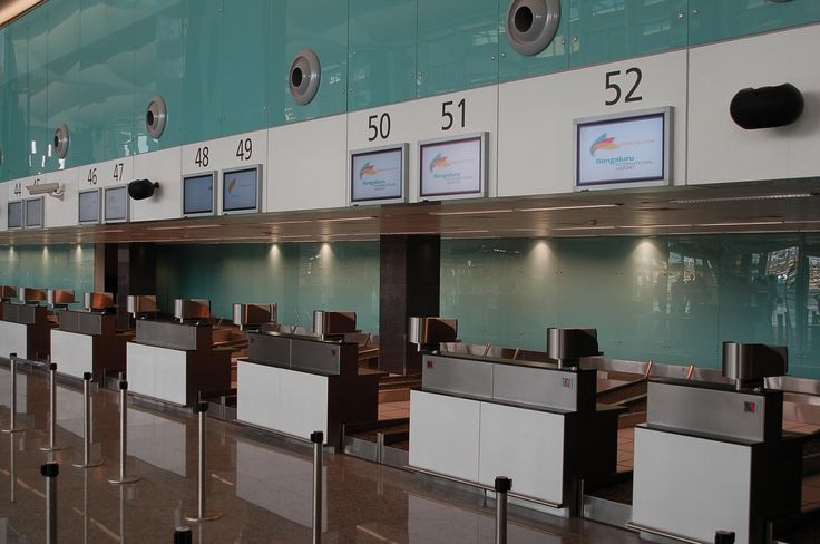 Airport Check in Counter | the 54 check in counters are modern and will be